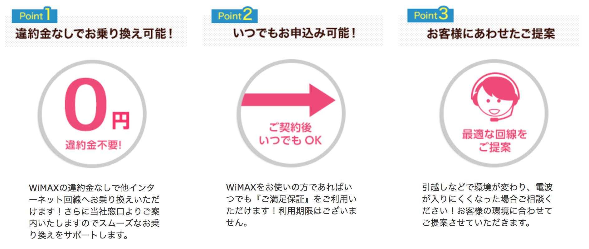 Broad WiMAX違約金なし_乗り換え_サービス内容